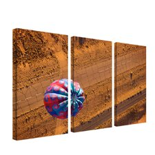 Cracked Highway by Aiana 3 Piece Photographic Print on Canvas Set