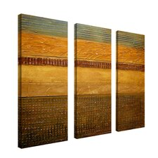 Earth Layers by Michelle Calkins Canvas Art (Set of 3)