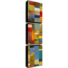 <strong>Trademark Global</strong> Color Panels with Blue Sky by Michelle Calkins Canvas Art (Set of 3)