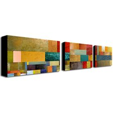 <strong>Trademark Global</strong> Pieces Project by Michelle Calkins Canvas Art (Set of 3)