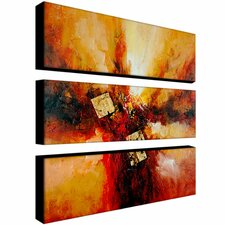 Cube Abstract by Rio Canvas Art (Set of 3)