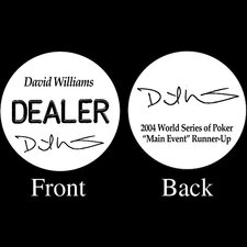 David Williams Professional Collector's Dealer Button
