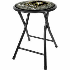 "U.S Army 18"" Digital Camo Folding Bar Stool with Cushion"