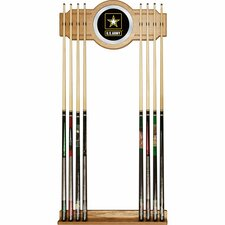 U.S Army Billiard Cue Rack with Mirror