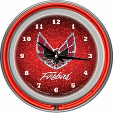 "Pontiac 14.5"" Firebird Double Ring Neon Wall Clock"