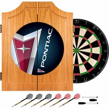 Pontiac Wood Dart Cabinet Set
