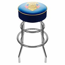 "<strong>Trademark Global</strong> Police Officer 31"" Padded Swivel Bar Stool with Cushion"