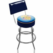 <strong>Trademark Global</strong> Police Officer Padded Swivel Bar Stool with Cushion