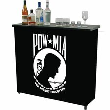 <strong>Trademark Global</strong> Pow Metal 2 Shelf Portable Bar Table Carrying Case