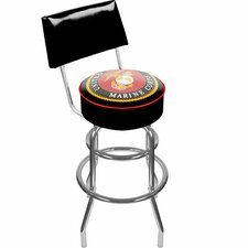 <strong>Trademark Global</strong> United States Marine Corps Swivel Bar Stool with Cushion
