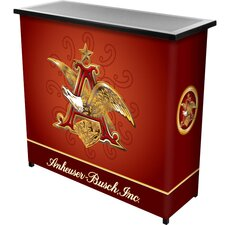 <strong>Trademark Global</strong> Anheuser Busch A and Eagle 2 Shelf Portable Bar Case
