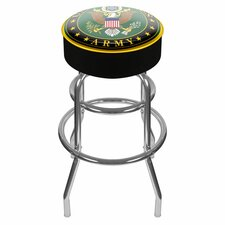 "U.S. Army 31"" Symbol Swivel Bar Stool with Cushion"