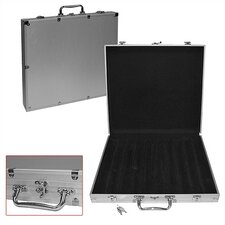1000 Capacity Poker Chip Case with Hard Aluminum Side