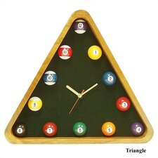 <strong>Trademark Global</strong> Game Room Pool Quartz Wall Clock