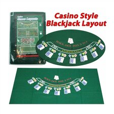 "<strong>Trademark Global</strong> Casino Style Blackjack Layout 36"" x 72"""