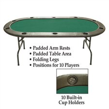 "10 Player Poker & Casino 96"" Hold'em Poker Table"