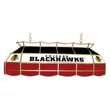 "NHL 40"" Stained Glass Lighting Fixture"