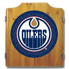 NHL Dart Board and Cabinet Set