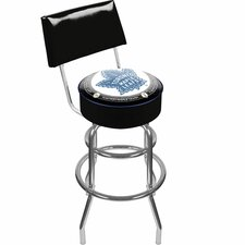 NHL Padded Barstool with Back
