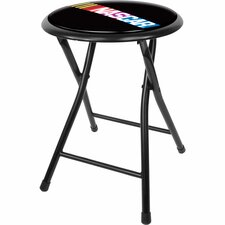 "NASCAR 18"" Folding Bar Stool with Cushion"