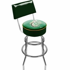 UNCC Padded Swivel Barstool with Back