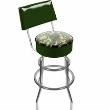 Hunt Camo Padded Swivel Barstool with Back