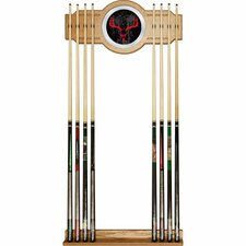 <strong>Trademark Global</strong> Hunt Skull Billiard Cue Rack with Mirror