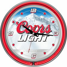 "14.5"" Coors Light  Neon Wall Clock"