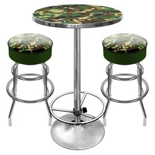 <strong>Trademark Global</strong> Hunt Camo Game Room 3 Piece Pub Table Set