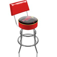 NCAA Swivel Bar Stoo with Cushion
