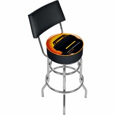 Pontiac GTO Time and Distance Padded Barstool with Back