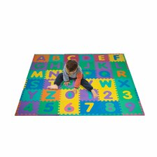 <strong>Trademark Global</strong> Foam Floor Alphabet and Number Puzzle Mat for Kids