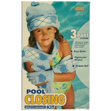 Three-Part Pool Closing System