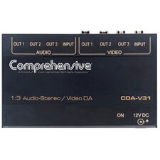 1 x 3 Distribution Amplifier for Composite Video/Stereo Audio DA
