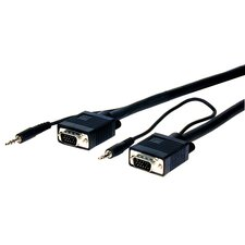 HR Pro Series VGA with Audio HD15 pin Plug to Plug Cable