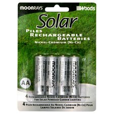 <strong>Moonrays</strong> AA Rechargeable NiCd Battery (Set of 4)