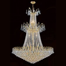 <strong>Worldwide Lighting</strong> Empire 18 Light Crystal Chandelier