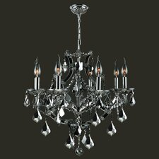 <strong>Worldwide Lighting</strong> Lyre 8 Light Crystal Chandelier