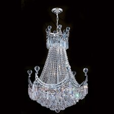 <strong>Worldwide Lighting</strong> Empire 9 Light Crystal Chandelier