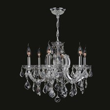 <strong>Worldwide Lighting</strong> Catherine 6 Light Crystal Chandelier