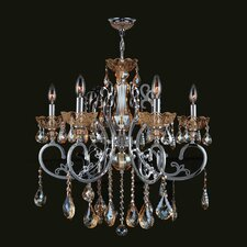 <strong>Worldwide Lighting</strong> Kronos 6 Light Crystal Chandelier