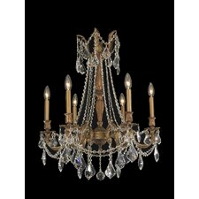 <strong>Worldwide Lighting</strong> Windsor 6 Light  Crystal Chandelier