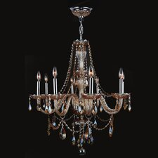 <strong>Worldwide Lighting</strong> Provence 8 Light Crystal Chandelier
