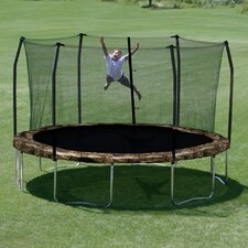 Camo 15' Round Trampoline and Enclosure