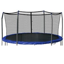 15' Round Enclosure Trampoline Netting Using 6 Poles