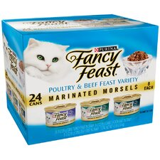 Marinated Morsels Variety Wet Cat Food (3-oz can,case of 24)