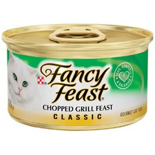 <strong>Fancy Feast</strong> Classic Chopped Grill Feast Gourmet Chicken and Beef Wet Cat Food (3-oz can, case of 24)