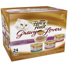 Gravy Lovers Poultry and Beef Wet Cat Food (3-oz can,case of 24)