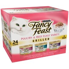 Poultry and Beef Feast Variety Grilled Wet Cat Food (3-oz can,case of 24)