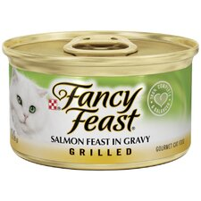 Grilled Salmon Feast in Gravy Wet Cat Food (3-oz can,case of 24)
